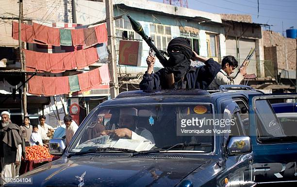 Members of a local 'lashkar' militia group The Pakistani police are virtually powerless in the NorthWest Frontier Province poorly equipped to fight...