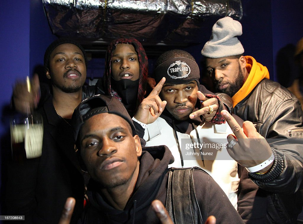 Members of A$AP Mob backstage at Best Buy Theatre on November 29, 2012 in New York City.