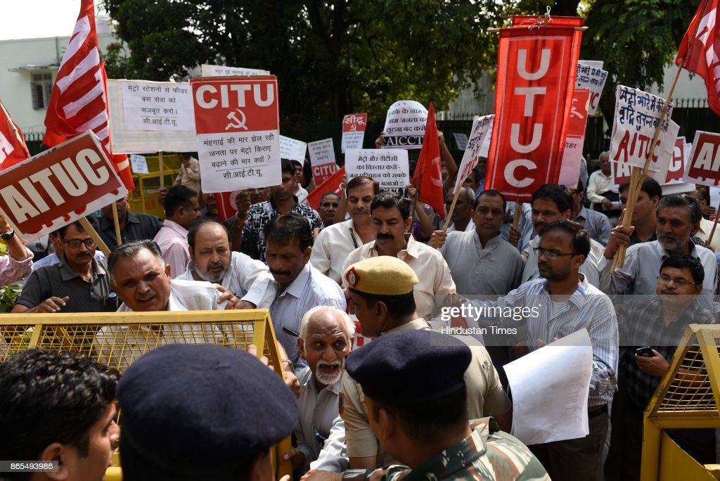 AICCTU Protest Against The Metro Fare Hike