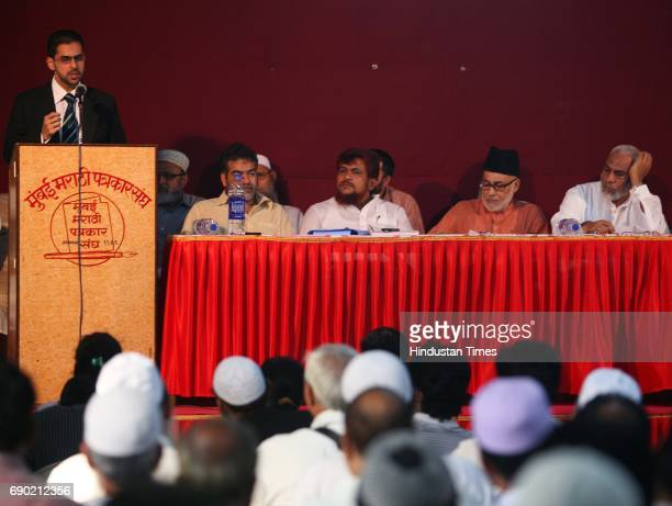 Members of All India Haj Umrah Tour Organisers' Association address the press conference at Marathi patrakar Sangh on Friday AIHUTOA takes up the...
