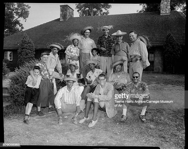 Members of Alpha Phi Alpha fraternity first row from left Charles Angell Dennis Goggins John Cundeiff second row son of LeRoy Patrick Wendell Stanton...
