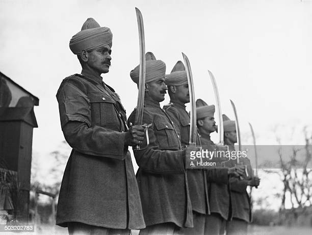 Members of an Indian Army mule contingent stationed in the west of England 24th November 1940