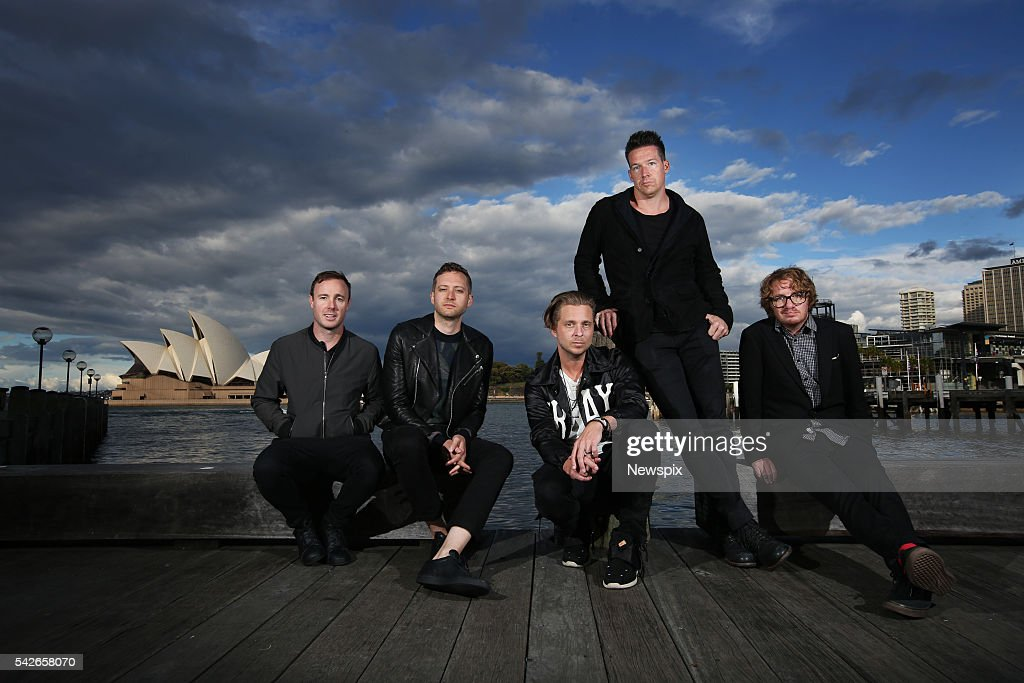 Members of band OneRepublic Eddie Fisher, <a gi-track='captionPersonalityLinkClicked' href=/galleries/search?phrase=Brent+Kutzle&family=editorial&specificpeople=4651556 ng-click='$event.stopPropagation()'>Brent Kutzle</a>, <a gi-track='captionPersonalityLinkClicked' href=/galleries/search?phrase=Ryan+Tedder&family=editorial&specificpeople=4651553 ng-click='$event.stopPropagation()'>Ryan Tedder</a>, <a gi-track='captionPersonalityLinkClicked' href=/galleries/search?phrase=Zach+Filkins&family=editorial&specificpeople=4651554 ng-click='$event.stopPropagation()'>Zach Filkins</a> and <a gi-track='captionPersonalityLinkClicked' href=/galleries/search?phrase=Drew+Brown+-+Musician&family=editorial&specificpeople=1662125 ng-click='$event.stopPropagation()'>Drew Brown</a> pose during a media call in Sydney, New South Wales.