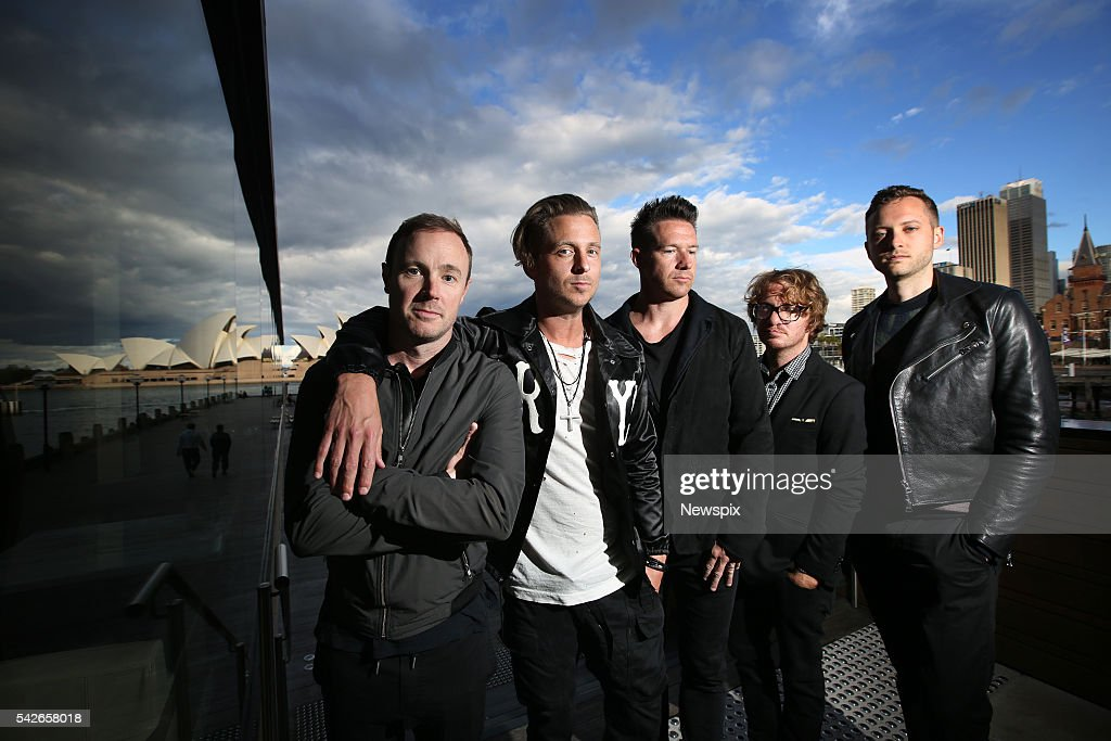 Members of band OneRepublic Eddie Fisher, <a gi-track='captionPersonalityLinkClicked' href=/galleries/search?phrase=Ryan+Tedder&family=editorial&specificpeople=4651553 ng-click='$event.stopPropagation()'>Ryan Tedder</a>, <a gi-track='captionPersonalityLinkClicked' href=/galleries/search?phrase=Zach+Filkins&family=editorial&specificpeople=4651554 ng-click='$event.stopPropagation()'>Zach Filkins</a>, <a gi-track='captionPersonalityLinkClicked' href=/galleries/search?phrase=Drew+Brown+-+Musician&family=editorial&specificpeople=1662125 ng-click='$event.stopPropagation()'>Drew Brown</a> and <a gi-track='captionPersonalityLinkClicked' href=/galleries/search?phrase=Brent+Kutzle&family=editorial&specificpeople=4651556 ng-click='$event.stopPropagation()'>Brent Kutzle</a> pose during a media call in Sydney, New South Wales.