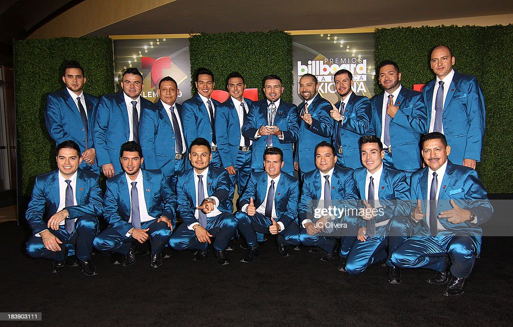 Members of Banda El Recodo pose for a photograph at The 2013 Billboard Mexican Music Awards - Press Room at Dolby Theatre on October 9, 2013 in Hollywood, California.