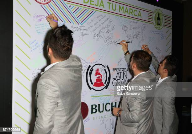 Members of Banda El Rocodo attend the gift lounge during the 18th annual Latin Grammy Awards at MGM Grand Garden Arena on November 15 2017 in Las...