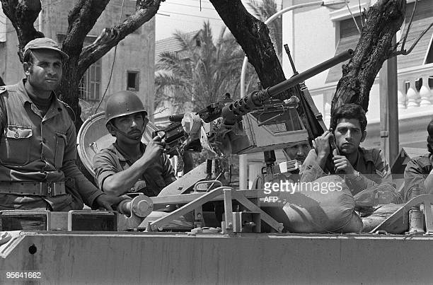 Members of Beirut based Sunni militia alMurabitun take position 12 April 1976 in Beirut Several Nasserite organizations which adhered to the...