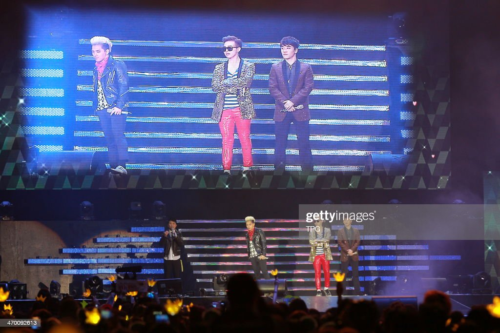 Members of Bigbang,G-Dragon,TaeYang and Lee Seunghyun meet fans on Saturday February 15,2013 in Hong Kong,China.