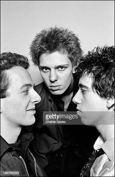 Members of British punk group The Clash at their manager Bernie Rhodes's 'Rehearsal Rehearsals' studio in Camden Town London 1977 Left to right...