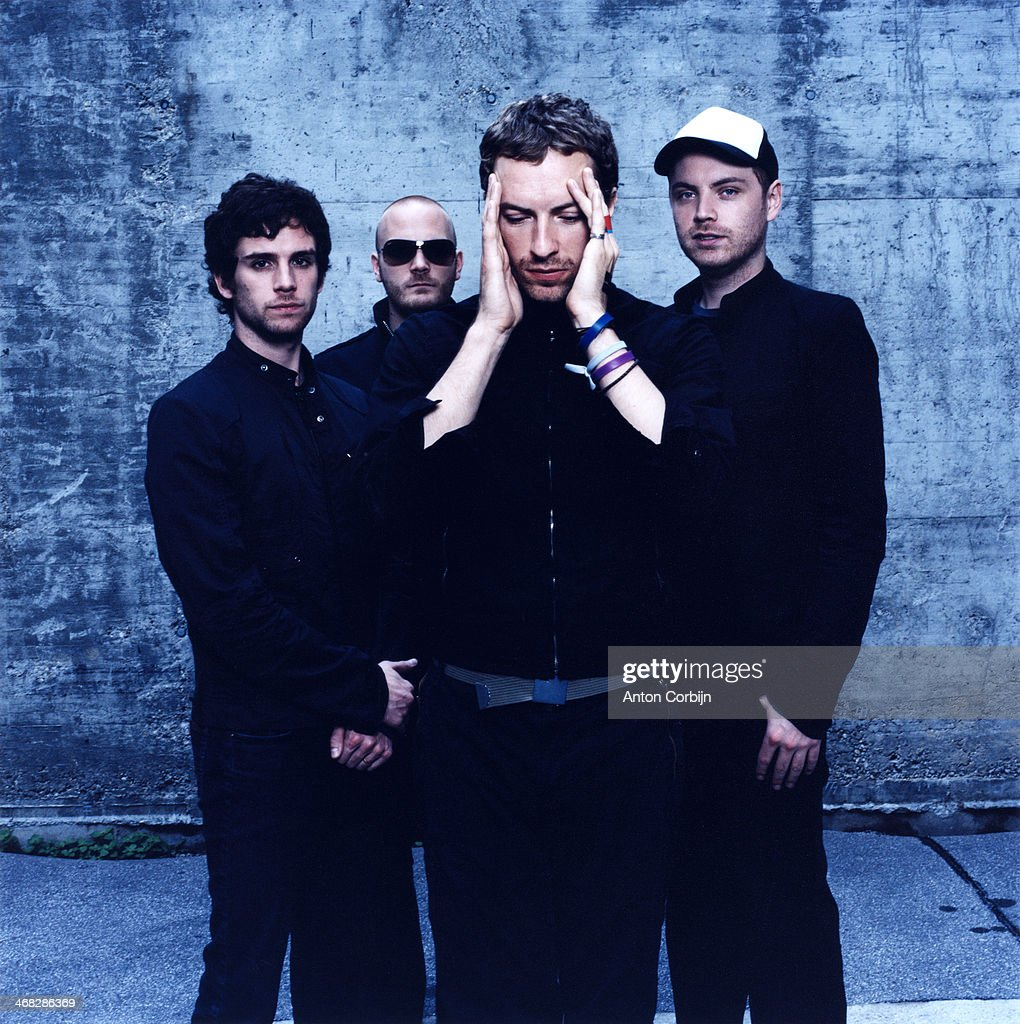 Members of british rock band Coldplay are photographed for Rolling Stone Magazine on July 10, 2005 in Vienna, Austria.
