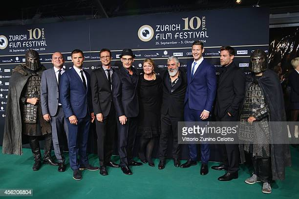 Members of cast and crew attend the 'Northmen A Viking Saga' Green Carpet Arrivals during Day 3 of Zurich Film Festival 2014 on September 27 2014 in...