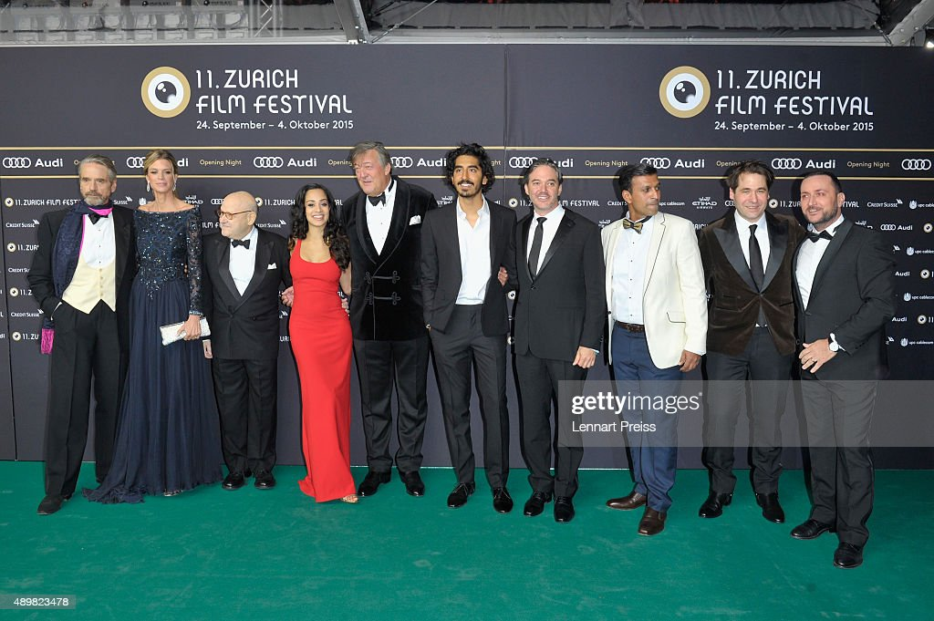 Members of cast and crew attend the 'The Man Who Knew Infinity' Premiere And Opening Ceremony during the Zurich Film Festival on September 24 2015 in...