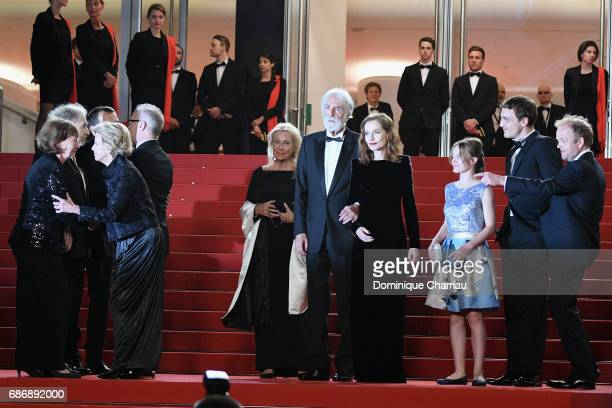 Members of cast and crew including Nabiha Akkari Mathieu Kassovitz Marianne Hoepfner JeanLouis Trintignant Isabelle Huppert director Michael Haneke...