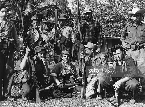 Members of Castro's militia in the Escambry Mountain area of Cuba during the illfated US backed Bay of Pigs invasion