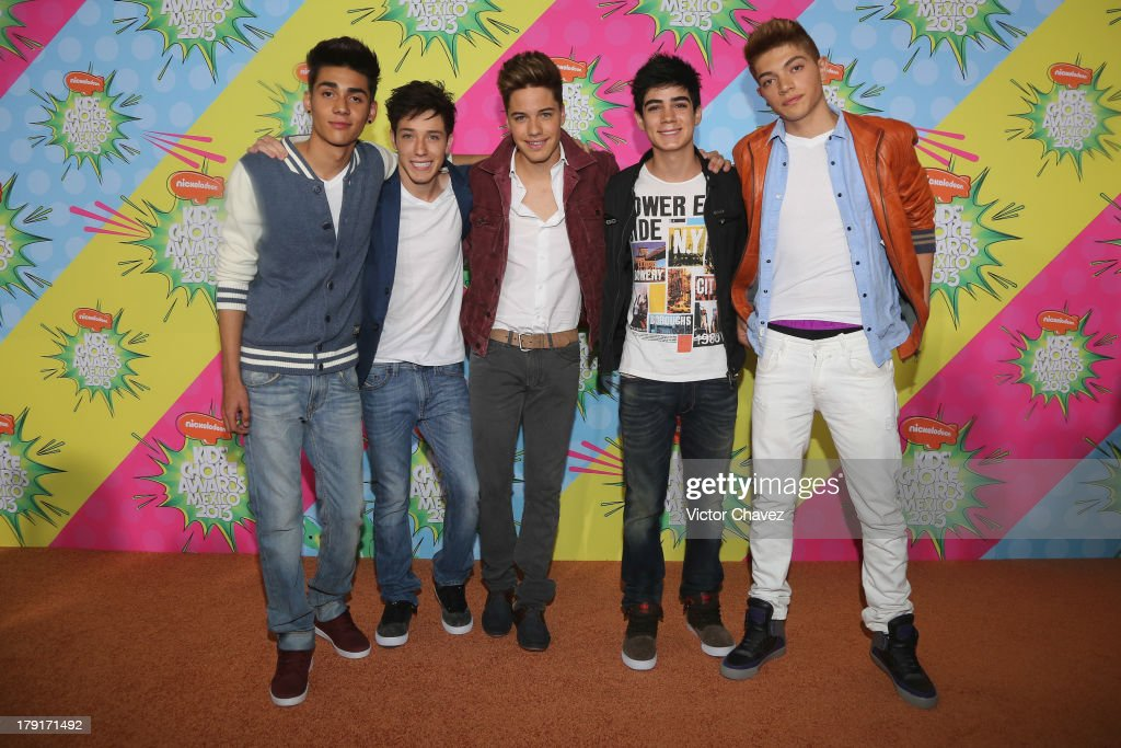 Members of CD9 arrive at Kids Choice Awards Mexico 2013 at Pepsi Center WTC on August 31, 2013 in Mexico City, Mexico.