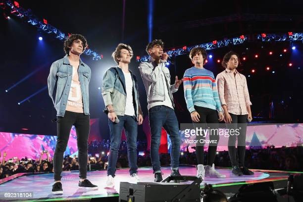 Members of CD9 speak on stage during the MTV MIAW Awards 2017 at Palacio de Los Deportes on June 3 2017 in Mexico City Mexico