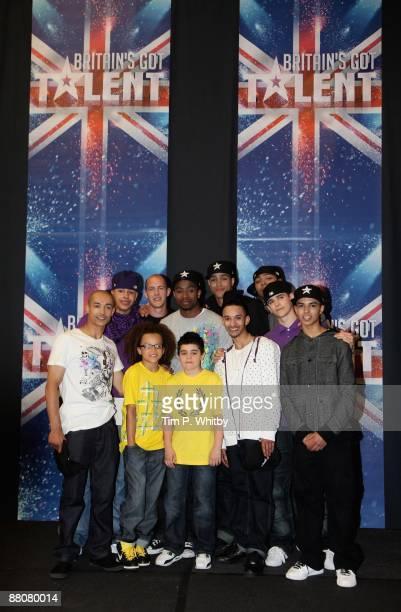 Members of dance troupe Diversity Ian McNaughton Warren Russell Terry Smith Ike Ezekwugo Ashley Banjo Jordan Banjo Sam Craske Perri Kiely Mitchell...