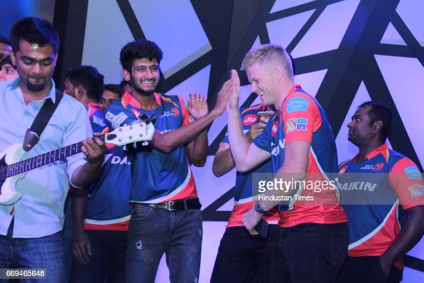Members of Delhi Daredevils team at a party hosted by Daikin to celebrate the three years of togetherness with Delhi Daredevils team at Hotel Pullman...