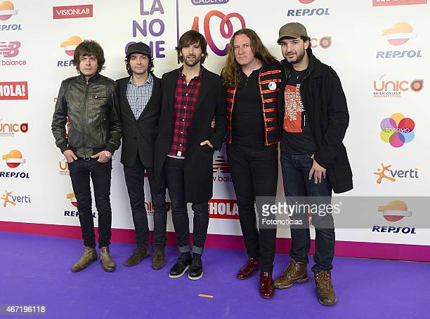 Members of El Pescao attend the 'Cadena 100 Por Etiopia' concert photocall at the Barclaycard Center on March 21 2015 in Madrid Spain