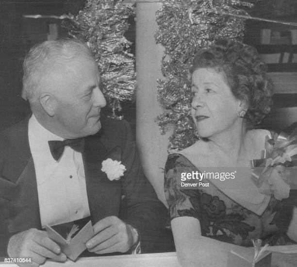 Members of exclusive Denver Society photographed at the elaborate Symphony ball held Saturday night included Mr and Mrs Clarence J Daly Credit Denver...