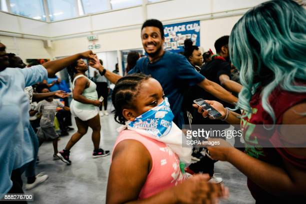 Members of Flagz Mas Band rehearse for their performance in Notting Hill Carnival at a primary school hall The Notting Hill Carnival is a yearly...