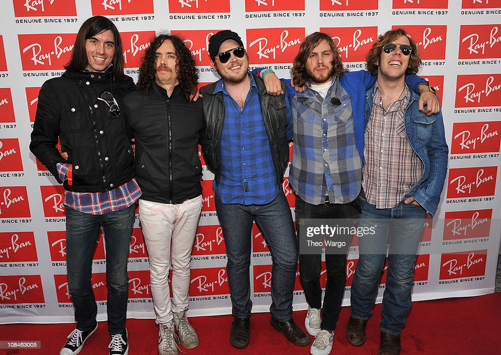 Members of Free Energy attend the Ray-Ban Aviator: The Essentials event at Music Hall of Williamsburg on May 12, 2010 in New York City.