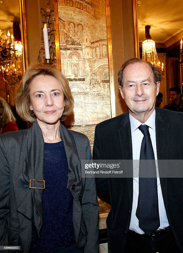 Members of French Academy Dominique Bona and Jean-Marie Rouart attend the 37th Writers Cocktail, organized by Circle Maxim's Business Club in Fairs Fouquet's, on November 27, 2014 in Paris, France.