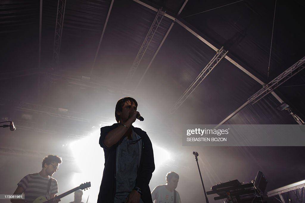 Members of French band Fauve perform on July 6, 2013 during the Eurockeennes music festival in the eastern French city of Belfort. AFP PHOTO / SEBASTIEN BOZON