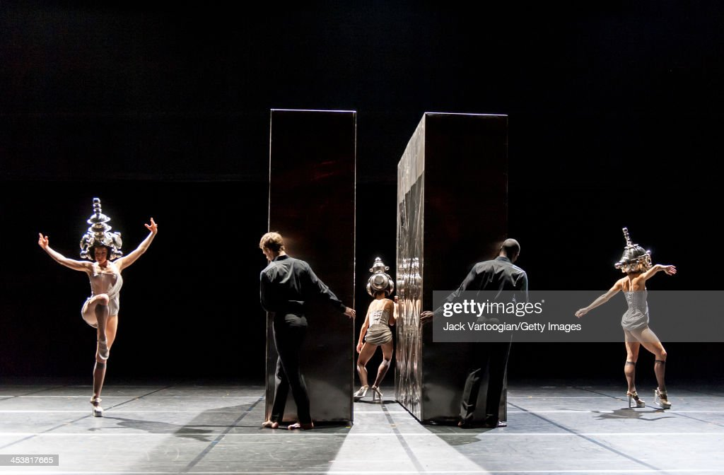 Members of French dance company Ballet Preljocaj perform 'And Then One Thousand Years of Peace' at the BAM Howard Gilman Opera House Brooklyn New...