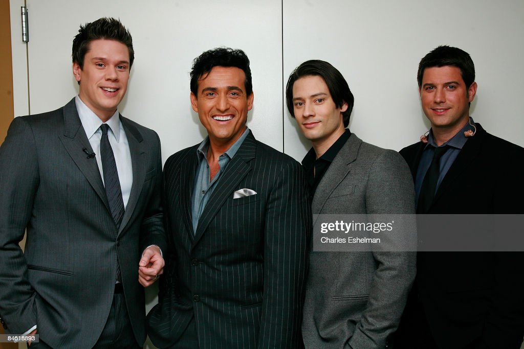 Members of Il Divo's David Miller, Carlos Marin, Ure Buhler and Sebastien Izambard perform at 'The Morning Show with Mike and Juliet' at FOX studios on January 22, 2009 in New York City.