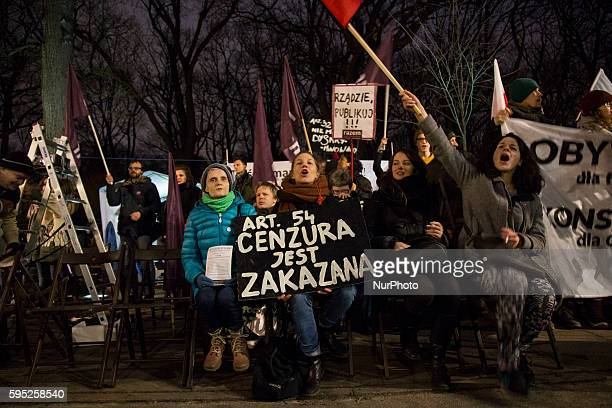 Members of KOD participate in antigovernment demonstration in Warsaw on March 10 2016