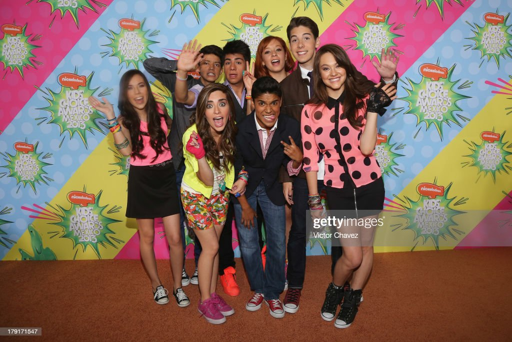 Members of La CQ arrive at Kids Choice Awards Mexico 2013 at Pepsi Center WTC on August 31, 2013 in Mexico City, Mexico.