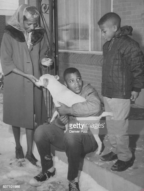 Members Of Lee Hawkins Family In Front Of Aurora Home They and others of the family soon will be moving to Houston Tex With their mother Mrs Alice...