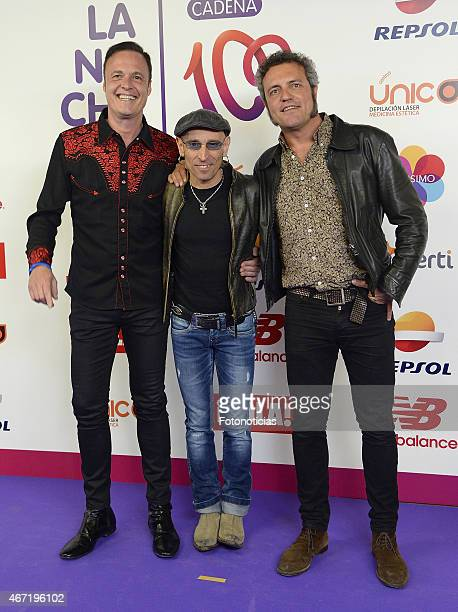Members of M Clan attend the 'Cadena 100 Por Etiopia' concert photocall at the Barclaycard Center on March 21 2015 in Madrid Spain