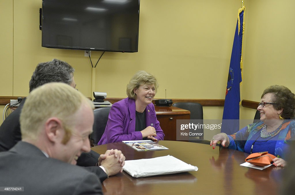 Members of NAMM meet with Sen. Tammy Baldwin(D-WI) in her office in the Hart Senate Office Building during NAMM D.C. Fly-in at the US Capitol on May 21, 2014 in Washington, DC.