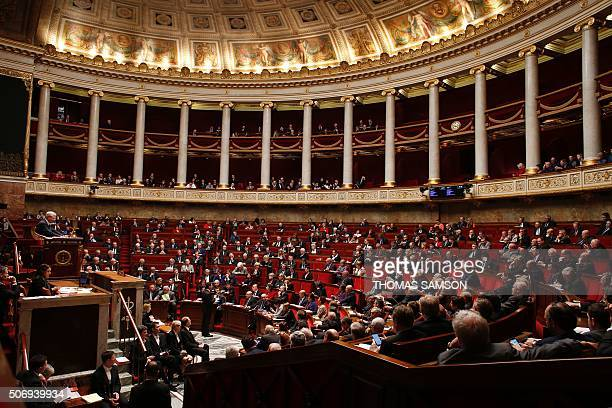 Members of Parliament attend a session of questions to the government at the French National Assembly on January 26 2016 in Paris AFP PHOTO / THOMAS...