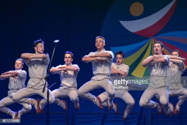 Members of 'Perla' group from Niemenczyn Lithuania during their performance on the first day of the 17th edition of World Festival of Polish Diaspora...