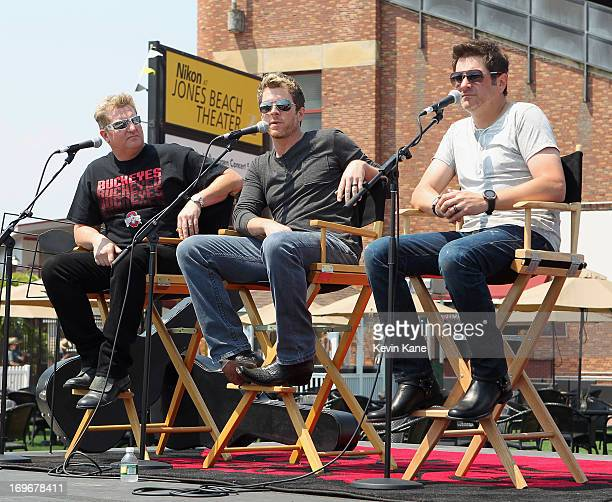 Members of Rascal Flatts Gary LeVox Joe Don Rooney and Jay De Marcus attend the reopening of the Nikon at Jones Beach Theater on May 30 2013 in...