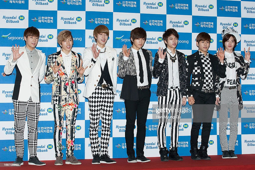 Members of South Korean boy band Infinite attend during 2013 Dream Concert at Seoul World Cup Stadium on May 11, 2013 in Seoul, South Korea.