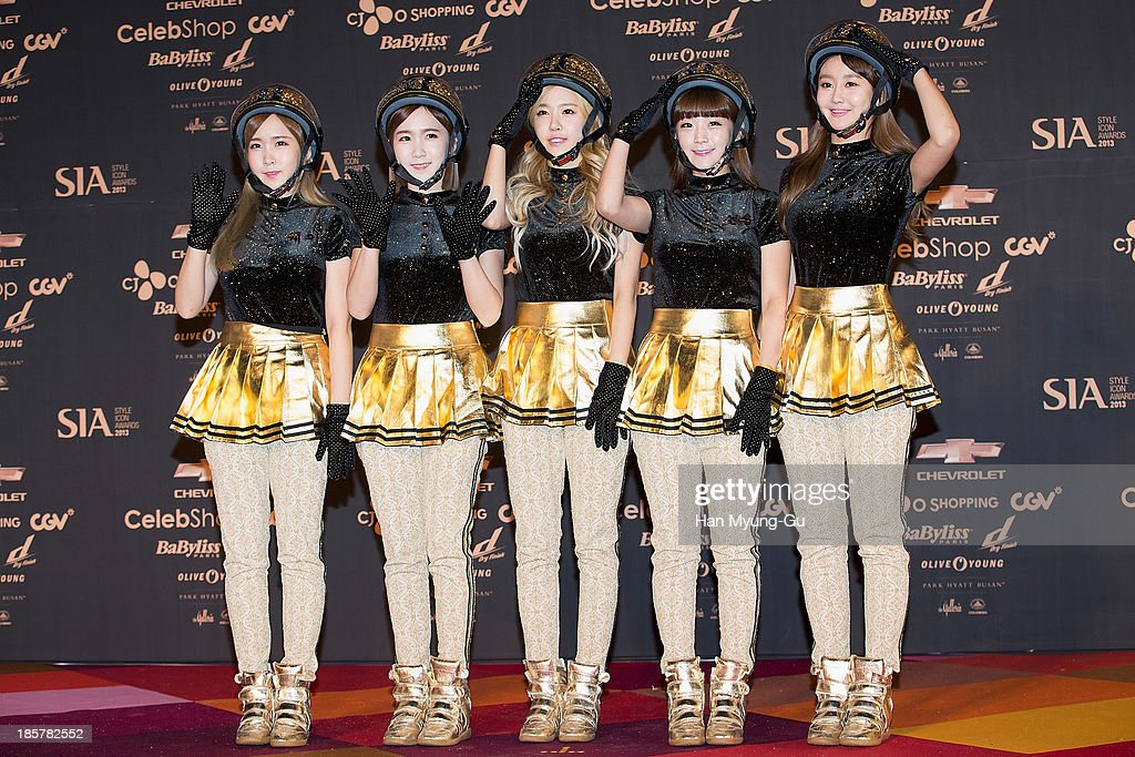 Members of South Korean girl group Crayon Pop attend 2013 Style Icon Awards at CJ E&M Center on October 24, 2013 in Seoul, South Korea.