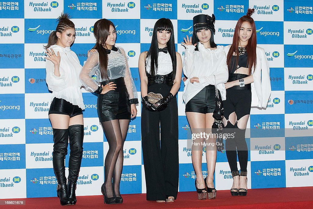 Members of South Korean girl group EvoL attend during 2013 Dream Concert at Seoul World Cup Stadium on May 11, 2013 in Seoul, South Korea.