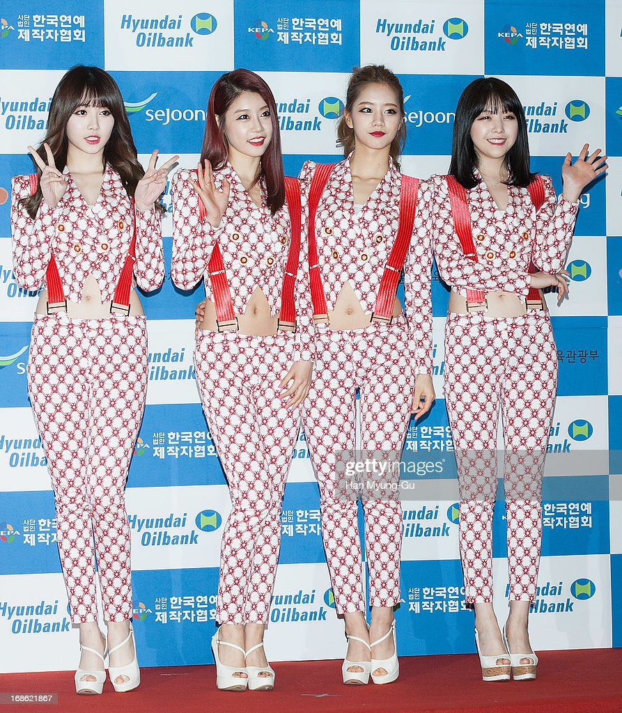 Members of South Korean girl group Girls Day attend during 2013 Dream Concert at Seoul World Cup Stadium on May 11, 2013 in Seoul, South Korea.