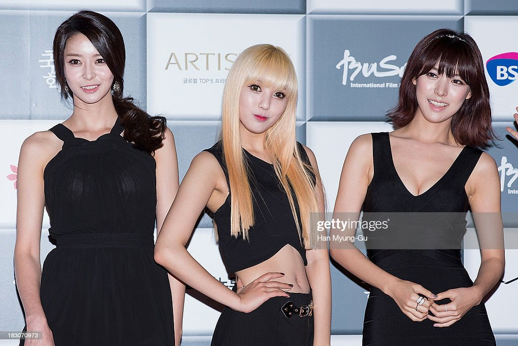 Members of South Korean girl group Hello Venus attend the opening ceremony during the 18th Busan International Film Festival on October 3, 2013 in Busan, South Korea. The biggest film festival in Asia showcases 299 films from 70 countries and runs from October 3-12.