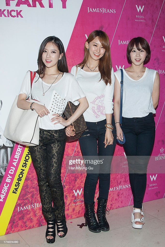 Members of South Korean girl group See Ya attend during a promotional event for the 'JamesJeans' 2013 F/W Showcase at the W Hotel on July 19, 2013 in Seoul, South Korea.