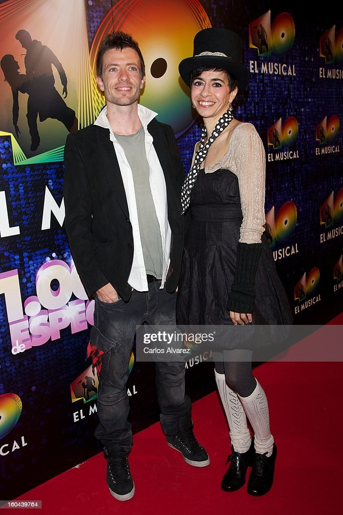 Members of Spanish pop band 'Lagarto Amarillo' attend '40 El Musical' premiere at the Rialto Theater on January 31, 2013 in Madrid, Spain.