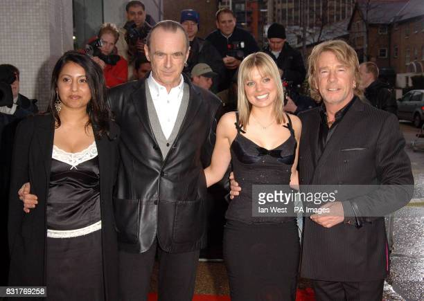 Members of Status Quo Rick Parfitt and Francis Rossi arrive for An Audience With Coronation Street at London Television Centre Sunday 9 April 2006