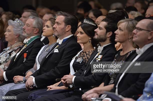 Members of Swedish Royal family Princess Christina Tord Magnusson Princess Madeleine Christopher O'Neill Princess Sofia Prince Carl Philip and Jenni...