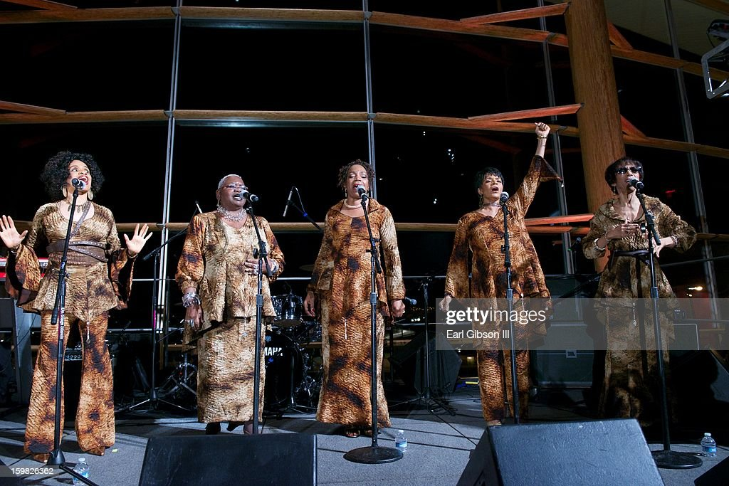 Members of Sweet Honey In The Rock perform at The 2013 Peace Ball: Voices of Hope And Resistance at Arena Stage on January 20, 2013 in Washington, DC.