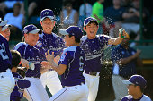 Members of Team AsiaPacific celebrate following their 84 win over the Great Lakes Team from Chicago Illinois to win the Little League World Series...