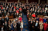 Members of the 112th Congress take the oath as Speaker of the House John Boehner swears them in on the House floor on Jan 5 2011